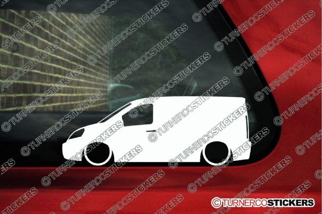 2x LOW Citroen Jumpy Van SWB 2007- 2nd gen Lowered car outline stickers